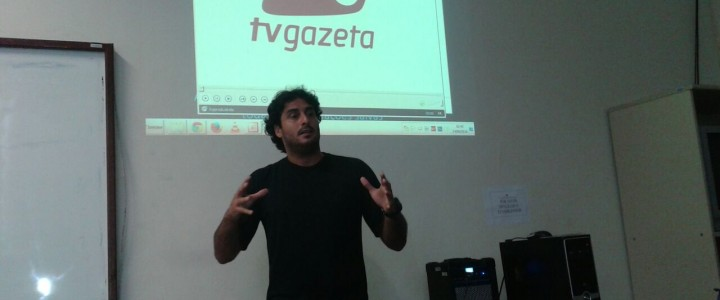 Palestra com o jornalista Rafael Zambe
