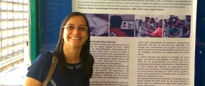 A Professora Renata Machado apresentou poster no SBGAMES 2016 em São Paulo