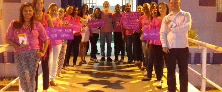 Sensibilização com a comunidade do Ceet Vasco Coutinho sobre o câncer de mama